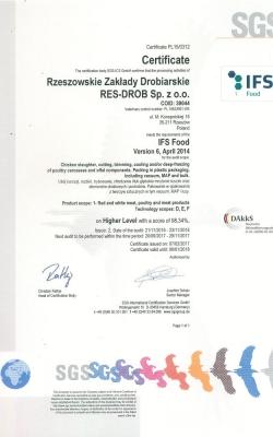certyfikaty drób
